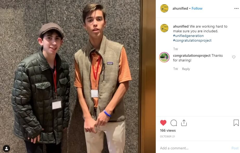 A screenshot of the video posted by U.S. Youth Ambassadors James and Jackson.