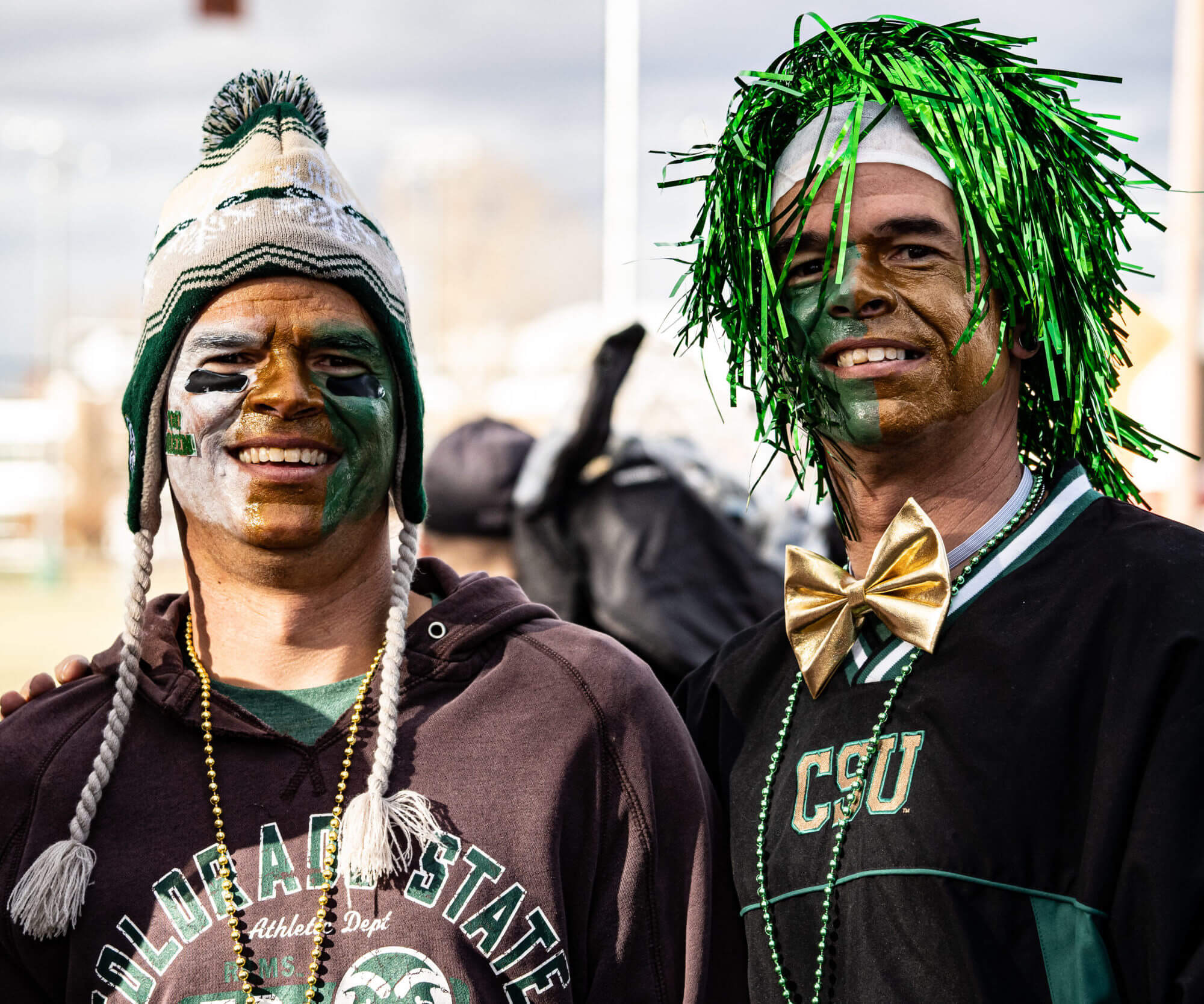 Two Colorado State College Club members dressed in spirit gear.