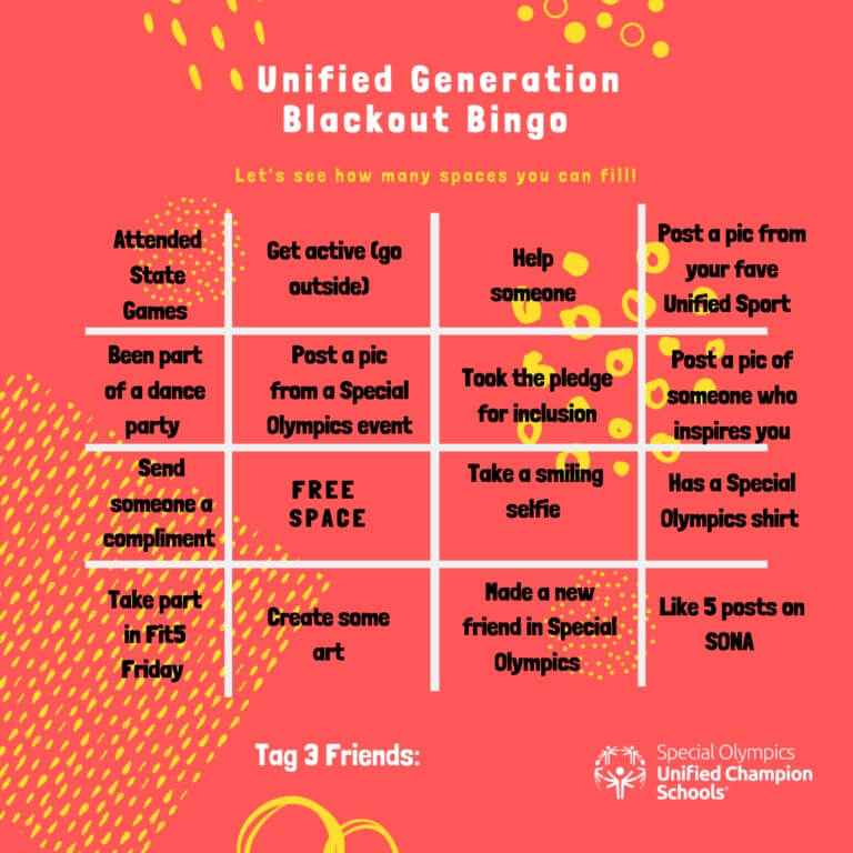 Image of Unified Generation Bingo from April.