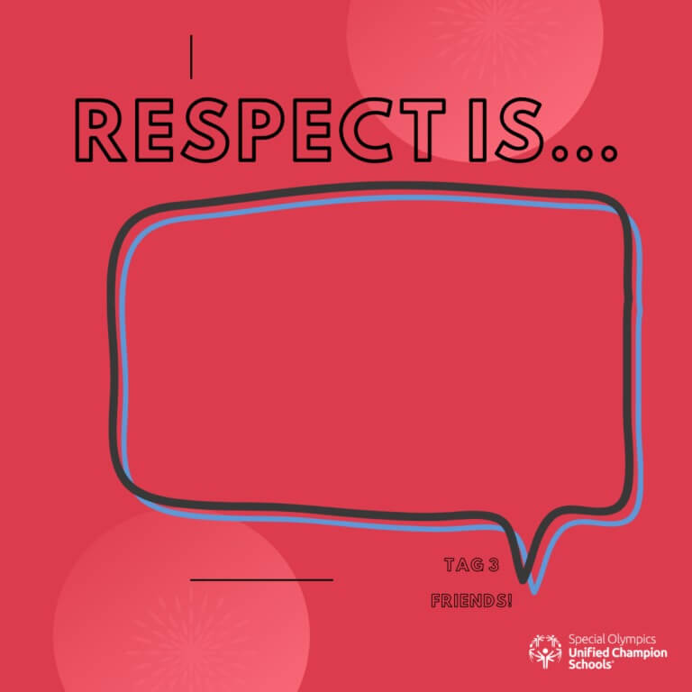 Template for people to share what respect means to them on Instagram.