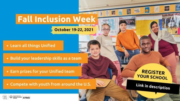 Click this image for more info about Fall Inclusion Week starting October 19.
